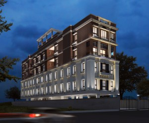 Residential building at Ho Chi Minh Sarani
